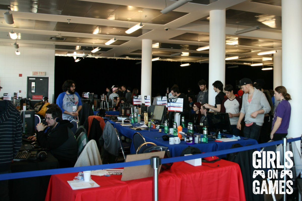 The Catapulte competition floor at the Pixel Challenge.