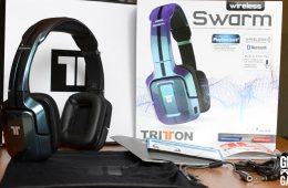 Unboxing the Tritton Swarm Mobile Headset. Photo © Catherine Smith-Desbiens / Girls on Games