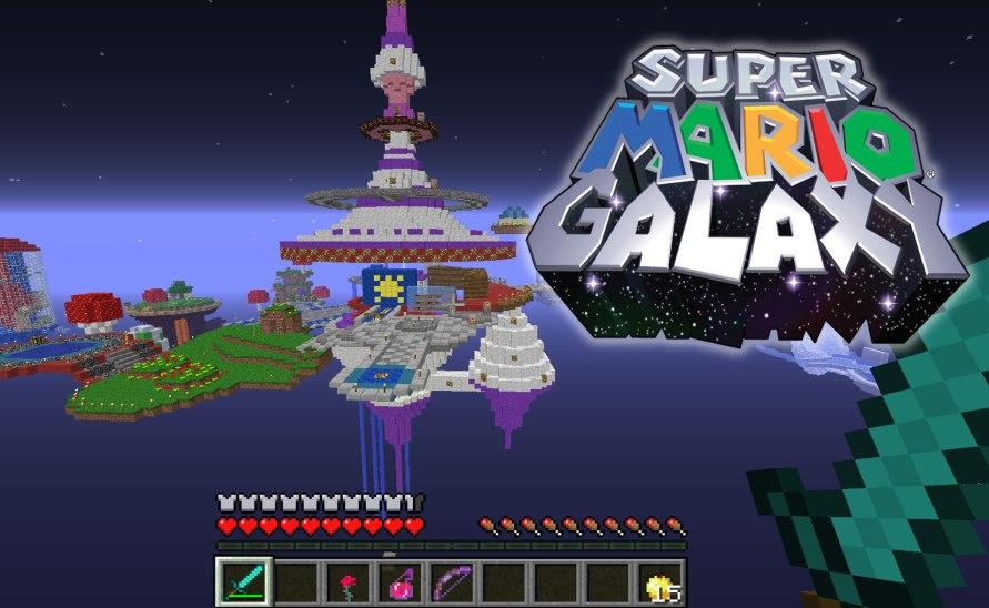 Super Mario Minecraft Galaxy