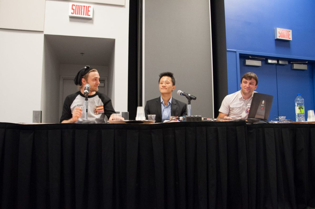eSports 101 (left to right): Vincent Doré-Millet, Dawei Ding, Mikaël Daudignon