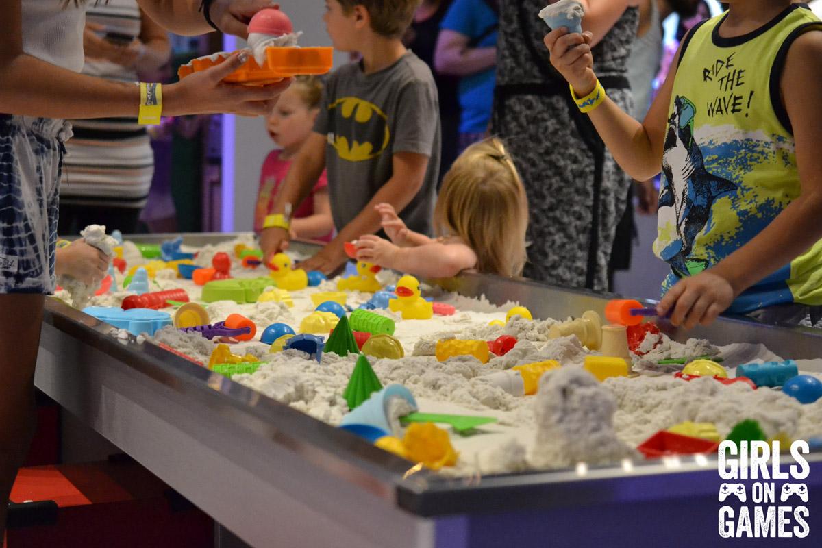 Playdough sandpit at the Rabbids Amusement Center