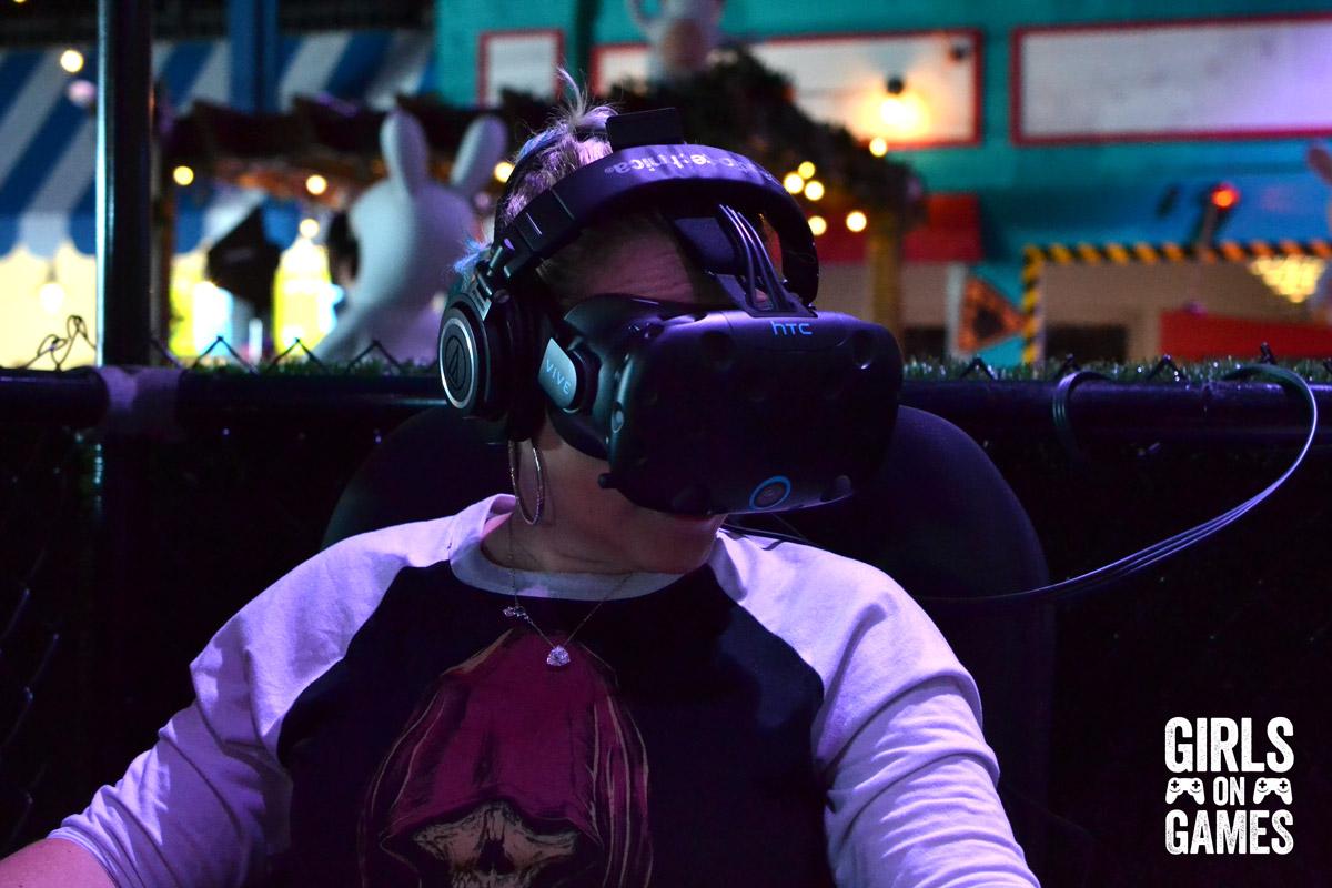 VR at the Rabbids Amusement Center