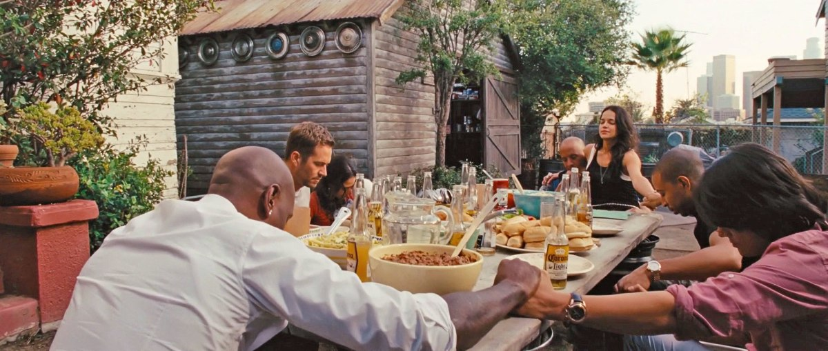 The Fast and Furious 6 crew enjoying 'family' time. From ew.com