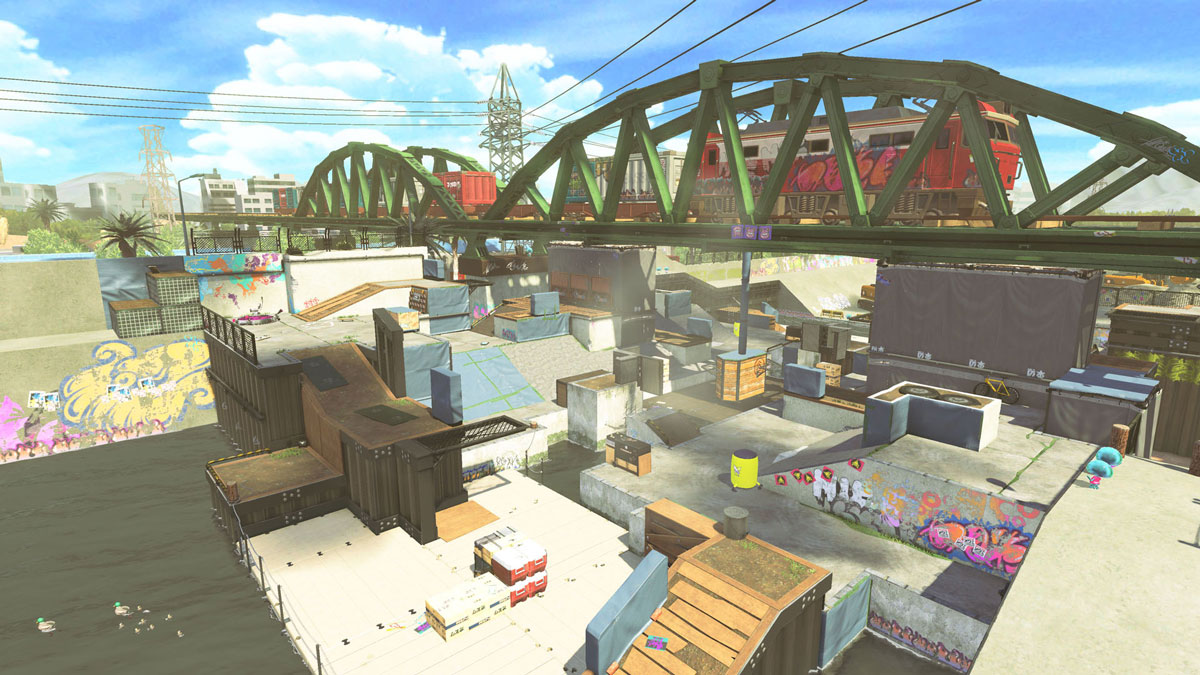 Splatoon2 new map, the river. From Nintendo