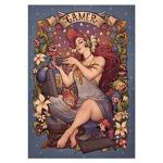 Gamer Girl Nouveau Print by MedusaTheDollMaker
