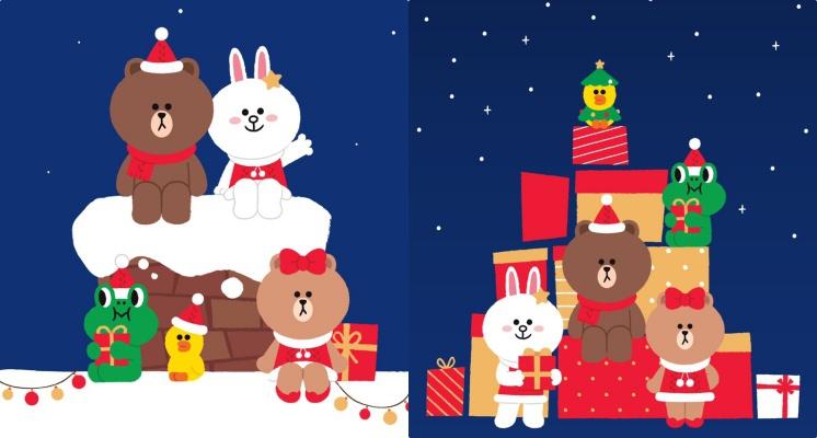 LINE FRIEND聖誕節限定桌布快收藏!換上聖誕服裝的熊大&莎莉真的可愛值爆表啊♡