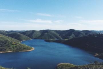Beautiful natural lake in the Algarve, Portugal