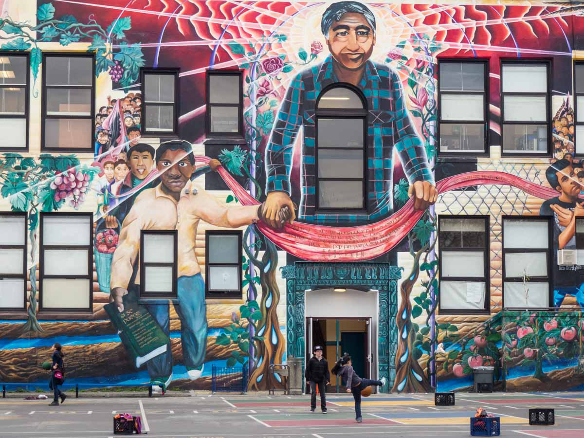 SF Mission Street Art Chavez Elementary