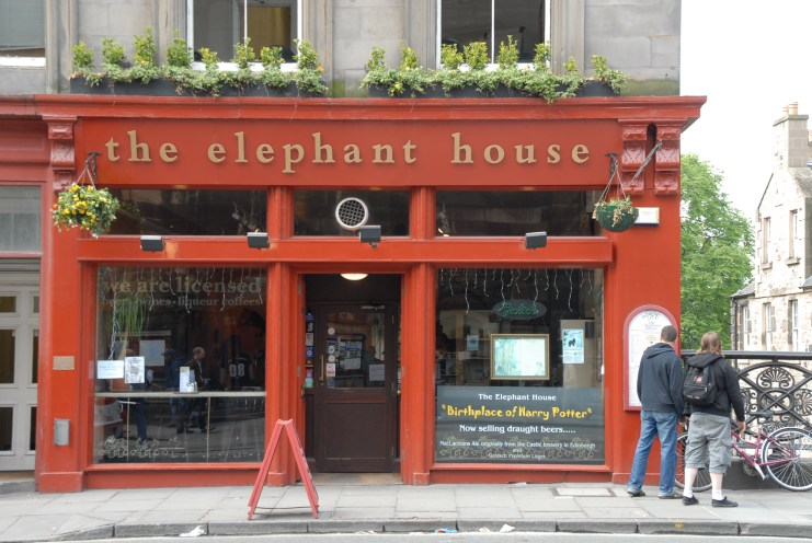 Street view of Elephant House Cafe