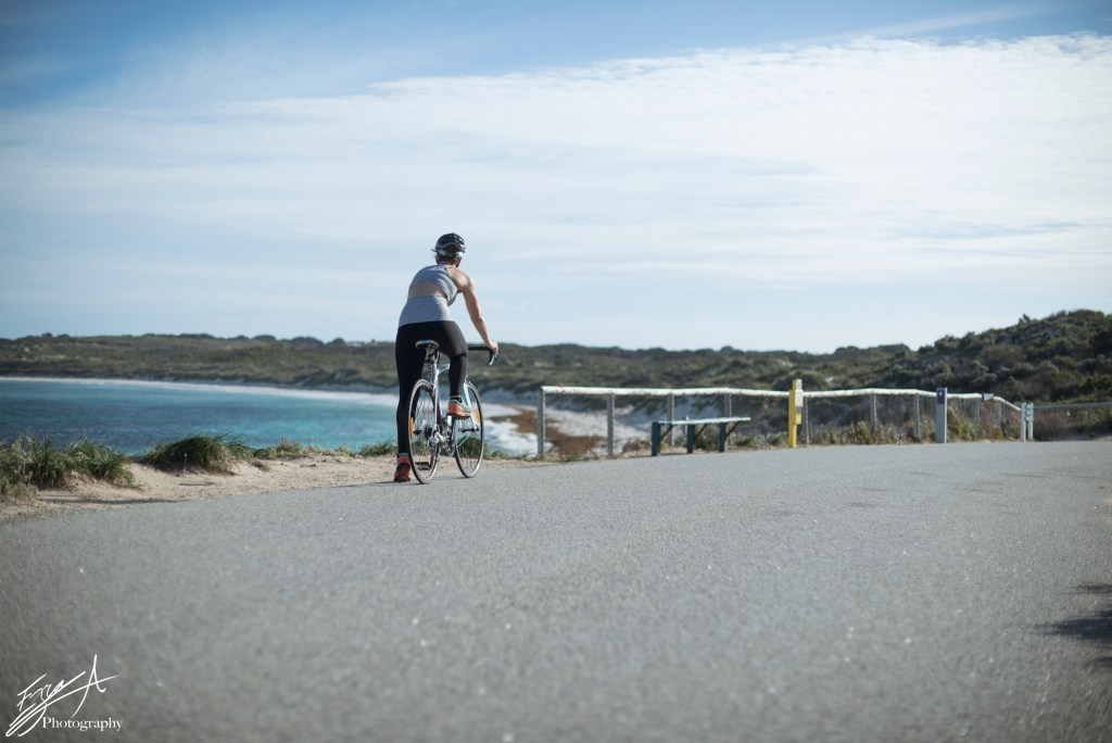 girl Cycling Rottnest, healthy fit travelling