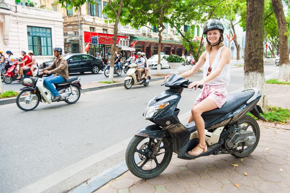 things to do in Hanoi, rent a motorbike in Hanoi, Global Gal Sarah