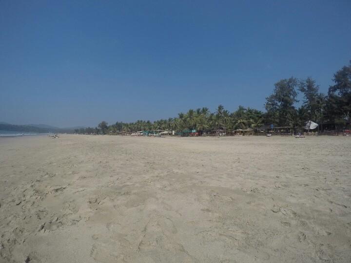 Beautiful beach scene in Goa, India