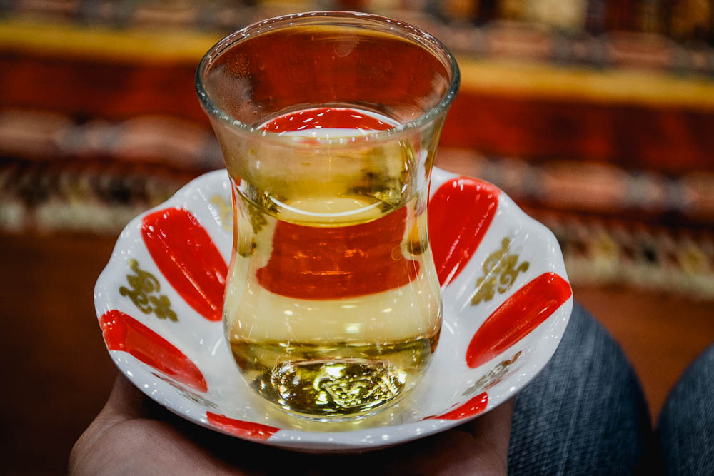 Turkish hospitality in a cup - delicious apple tea in Istanbul