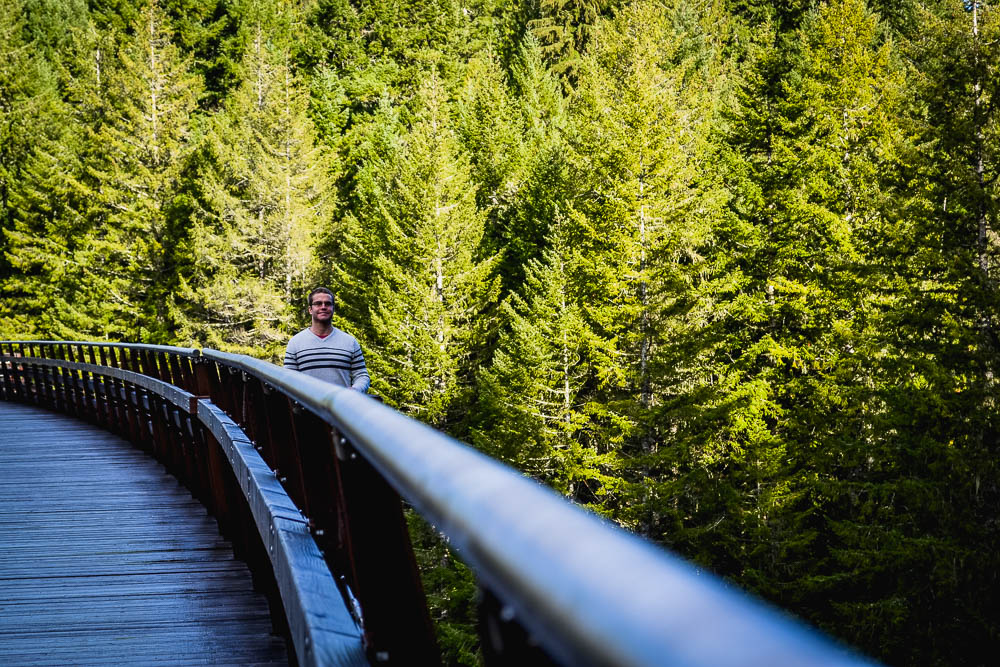 photo opportunities at kinsol trestle vancouver island british columbia canada