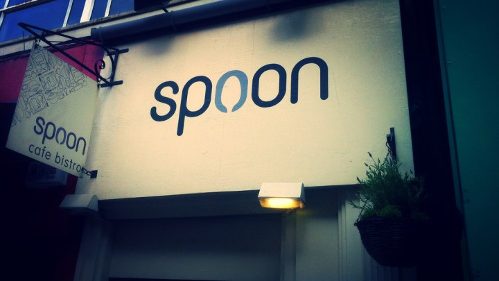 Spoon Cafe street sign