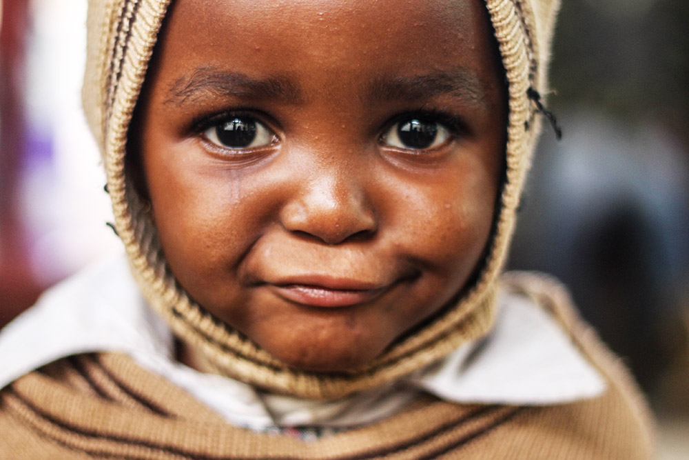 Little girl in Kenya