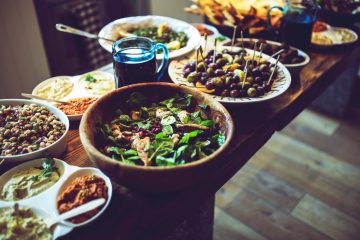 flatlay food