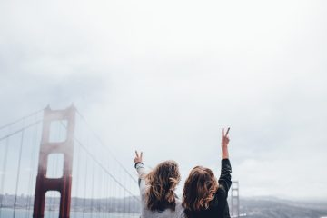 Image of two girls in San Francisco