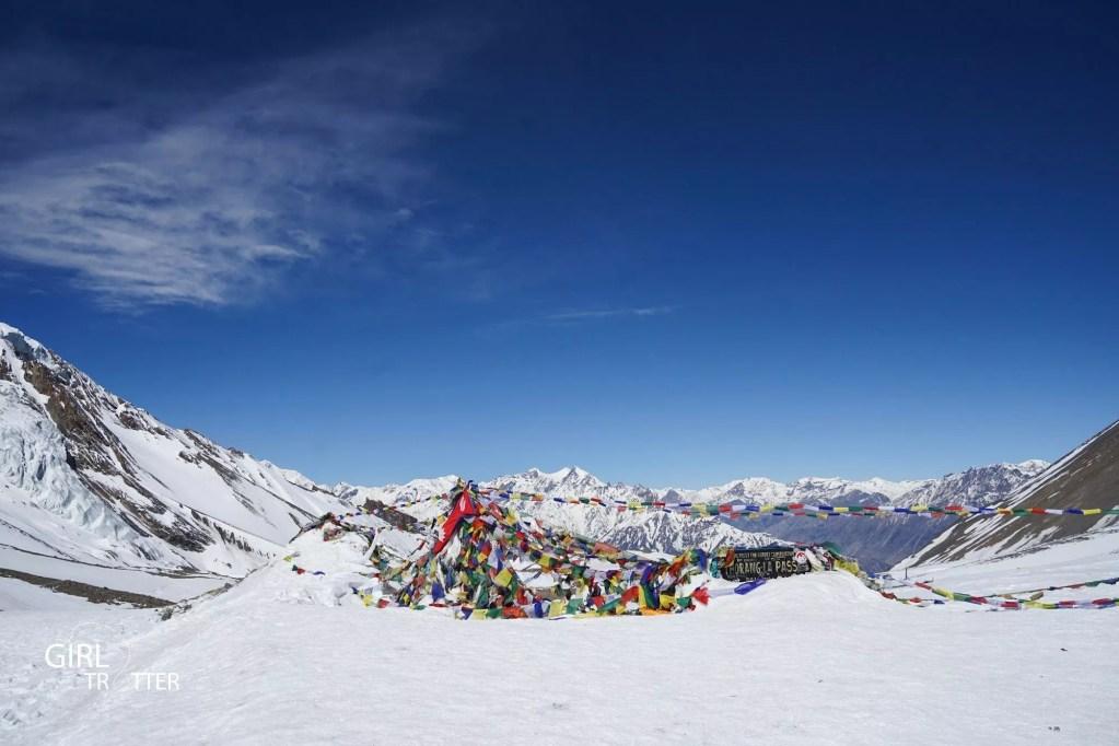 Le col Thorong La sur le circuit des Annapurnas au Népal