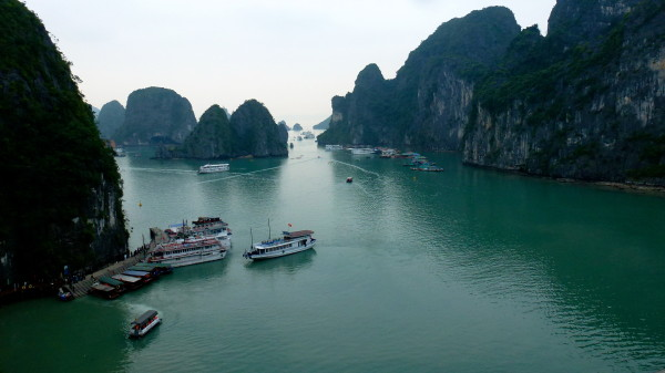 Aerial view of Halong Bay
