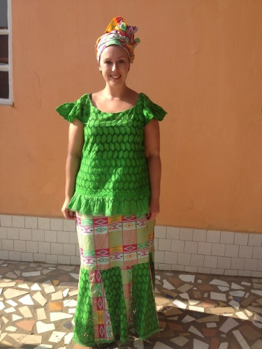 Me in Gambian dress