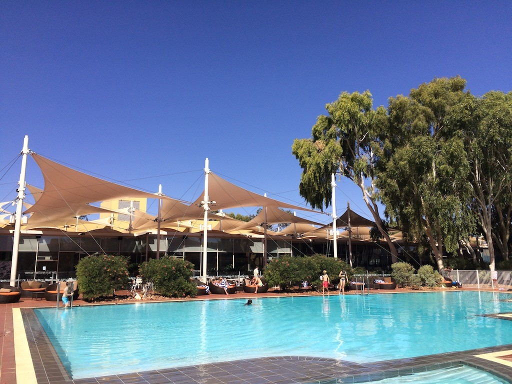 A much needed refreshing dip at Sails In The Desert, Ayers Rock Resort
