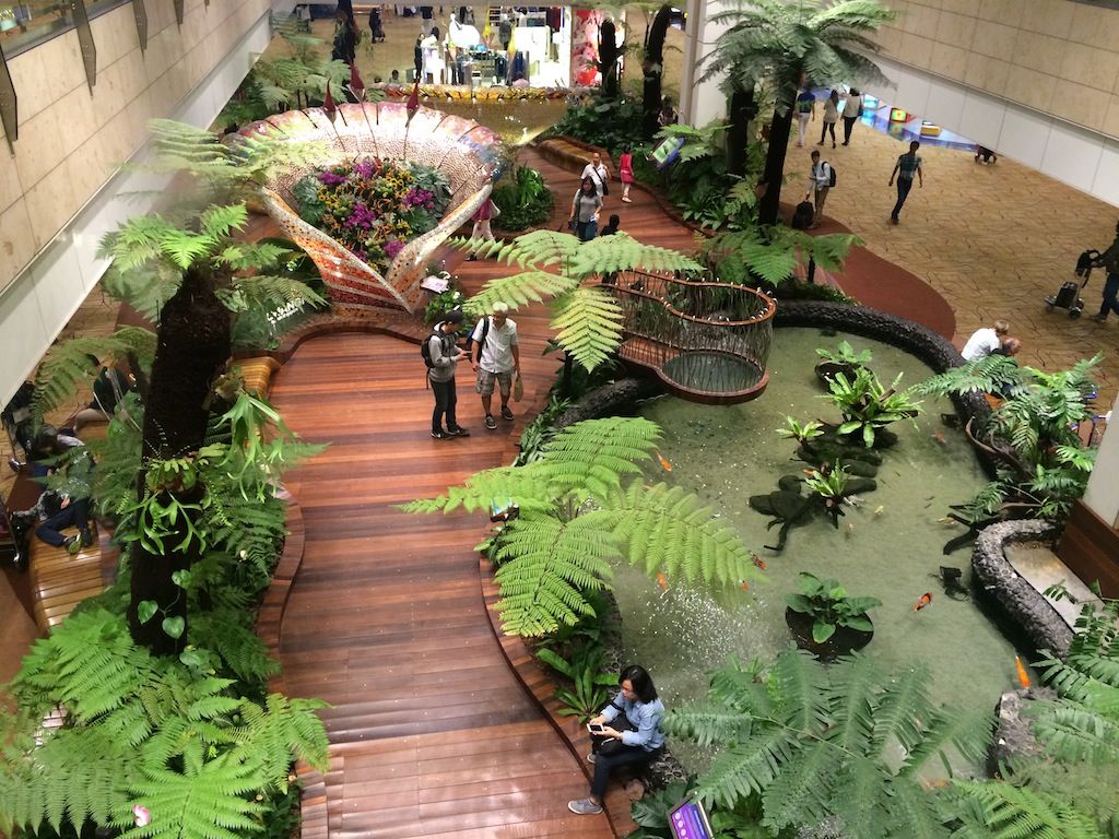 A 13-strong team and an army of service partners care for more than 500,000 plants at Changi Airport's three terminals.