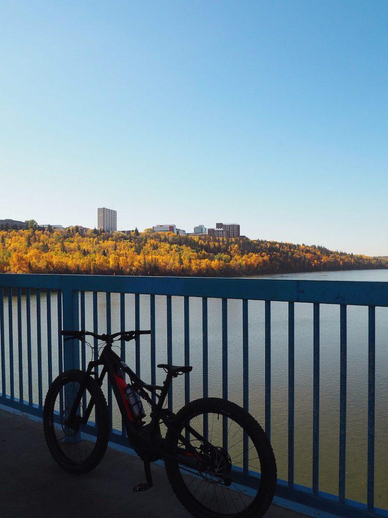 e-bike tour of Edmonton urban parkland