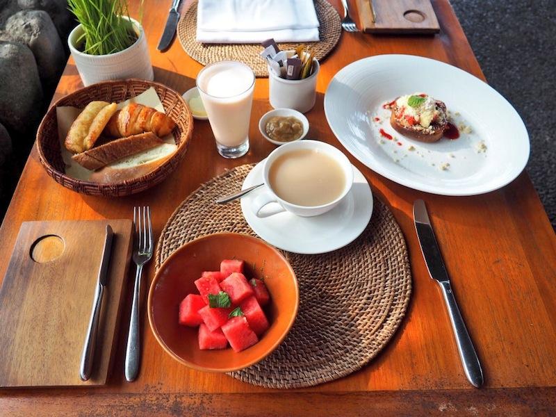 Made to order breakfast at Alila Ubud