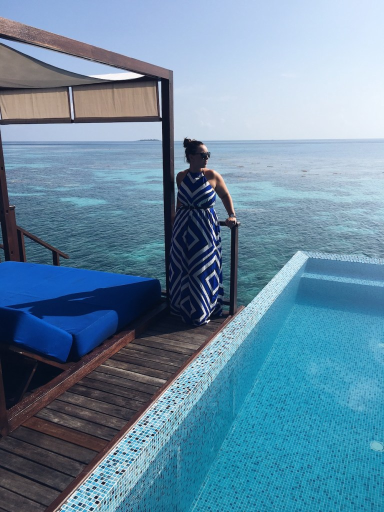 Seafolly dress in the Maldives