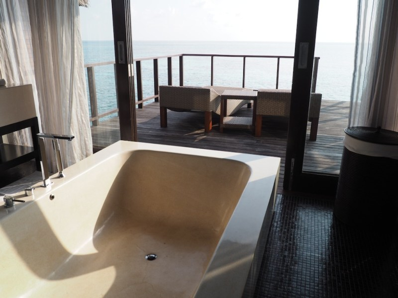 You'll find me here - sunken marble bath tub at Coco Residence