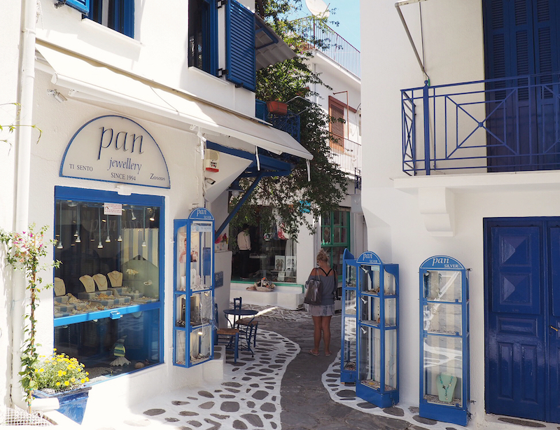 Get lost in the backstreets of Skiathos Town