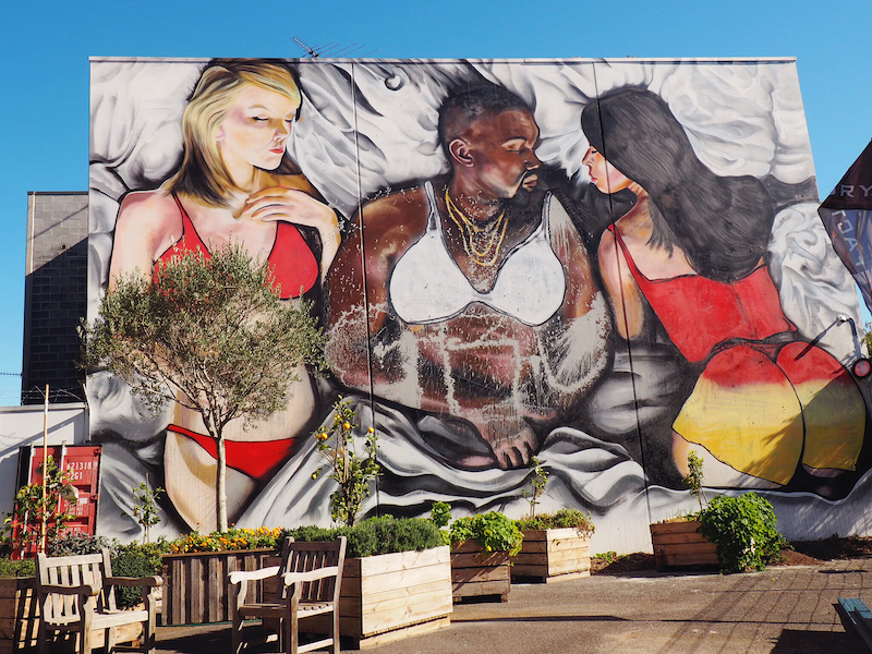 Lushsux Mural in Cremorne of Kanye West's Famous Video