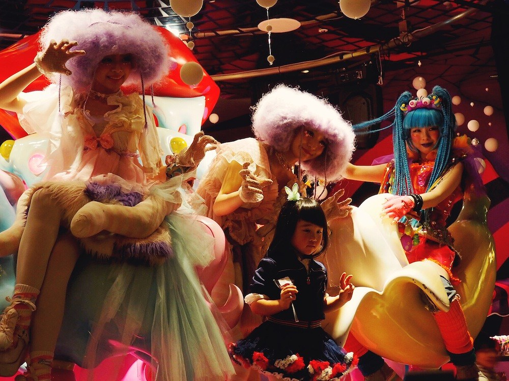 Photo time at Kawaii Monster Cafe Tokyo