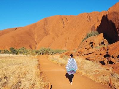 exploring Uluru outback Australia