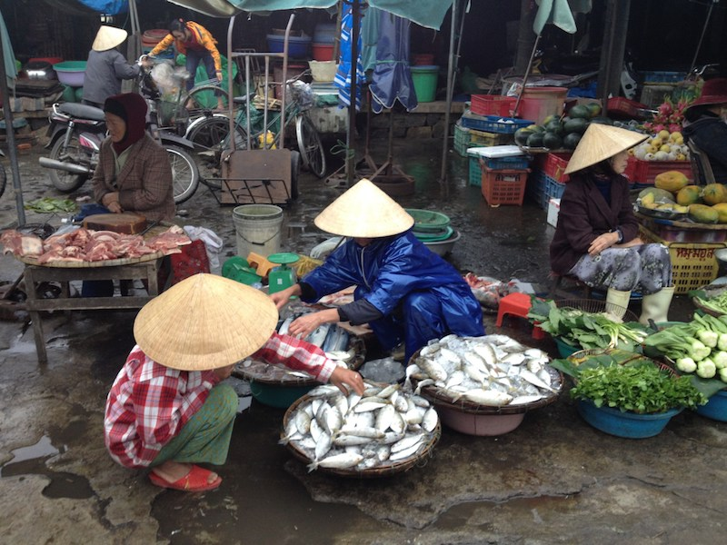 Market in Hoi An Vietnam
