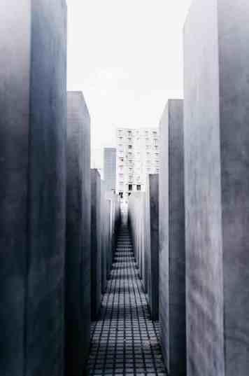 The haunting sadness of the Holocaust Memorial in Berlin.