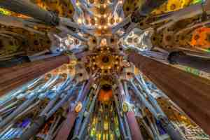 The Modernist beauty of the exquisite, La Sagrada Familia church in Barcelona.