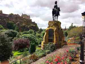 From the bus, you get an amazing view of the Princes Street Gardens.