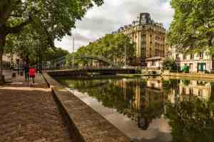 Canal St-Martin is one of the most scenic places in all of Paris.