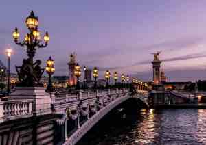 A gorgeous Paris sunset over the Seine.