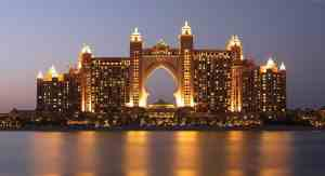 The Palm represents the insane beauty and wealth of Dubai in the United Arba Emirates.