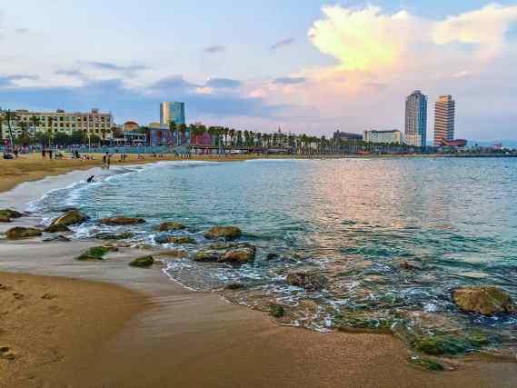 Take time to enjoy the natural beauty fo Barcelona's many beaches.