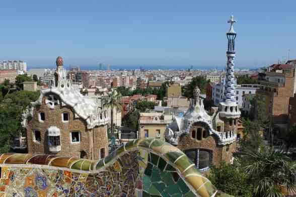 The beauty of Park Guell, one of Barcelona's top attractions.