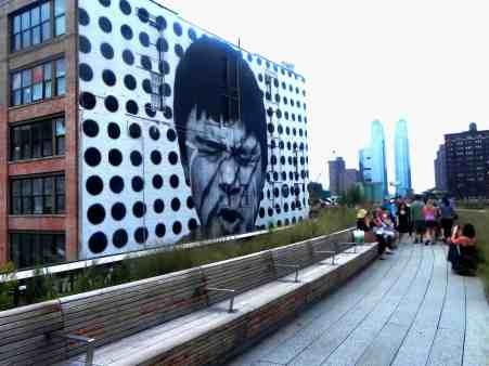 The beautiful street art along the Highline.