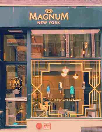 Stop by Magnum summer pop up to create your own magnum bar.