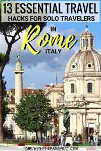 Between the Vatican, the Catacombs, the Capuchin Crypts, and the exquisite food markets, there are plenty of Rome things to do for the solo traveler. All you need to do is spend time enjoying some Rome Italy food amidst the many vibrant piazzas of the city, and trust me you'll never feel lonely again. #Rome #Italy #Europe #Wanderlust #trave