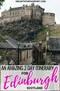 If you are planning to do some Edinburgh Scotland travel, then this 2 day Edinburgh travel itinerary is for you. Check out all the amazing Edinburgh Scotland things to do in just four days. Between Edinburgh Castle, the Royal Mile, Arthur's Seat, Mary King's Close, you won't run out of things to do or Edinburgh Scotland food to eat. #Scotland #Edinburgh #travel #UK #UnitedKingdom