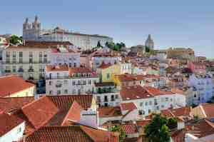 A view overlooking the beautiful Alfama district of Lisbon.