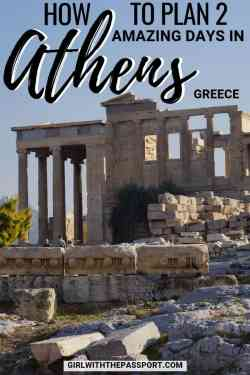 Planning a Greece vacation and in need of an Athens 2 day itinerary? Well, then you're in luck because this post details the top things to do in Athens, Greece travel and where to find some of the best Athens, Greece food. So grab a pair of walking shoes and prepare to explore such amazing places as the Acropolis, the Temple of Zeus, Hadrian's Arch, the Acropolis Museum, and more. #greece #athens #travel #wanderlust #itinerary